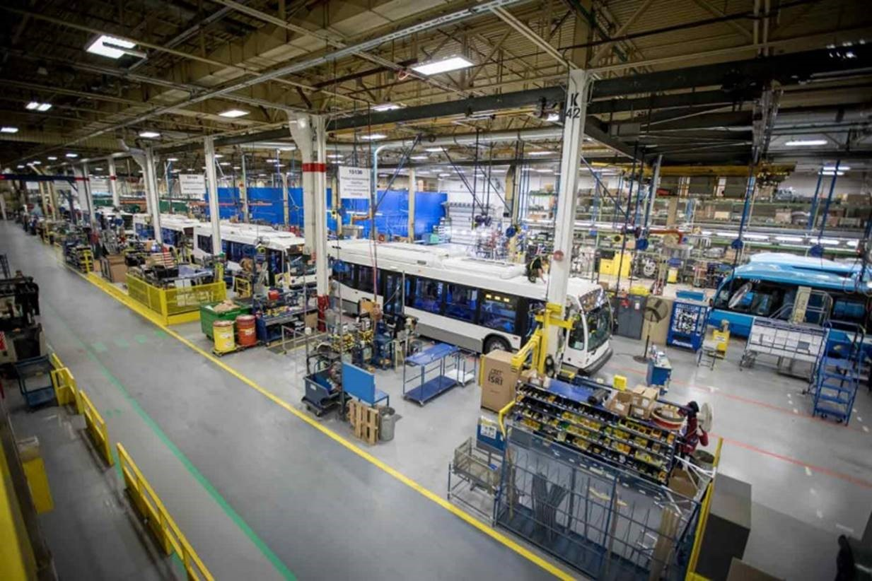 Inside the Nova Bus manufacturing plant