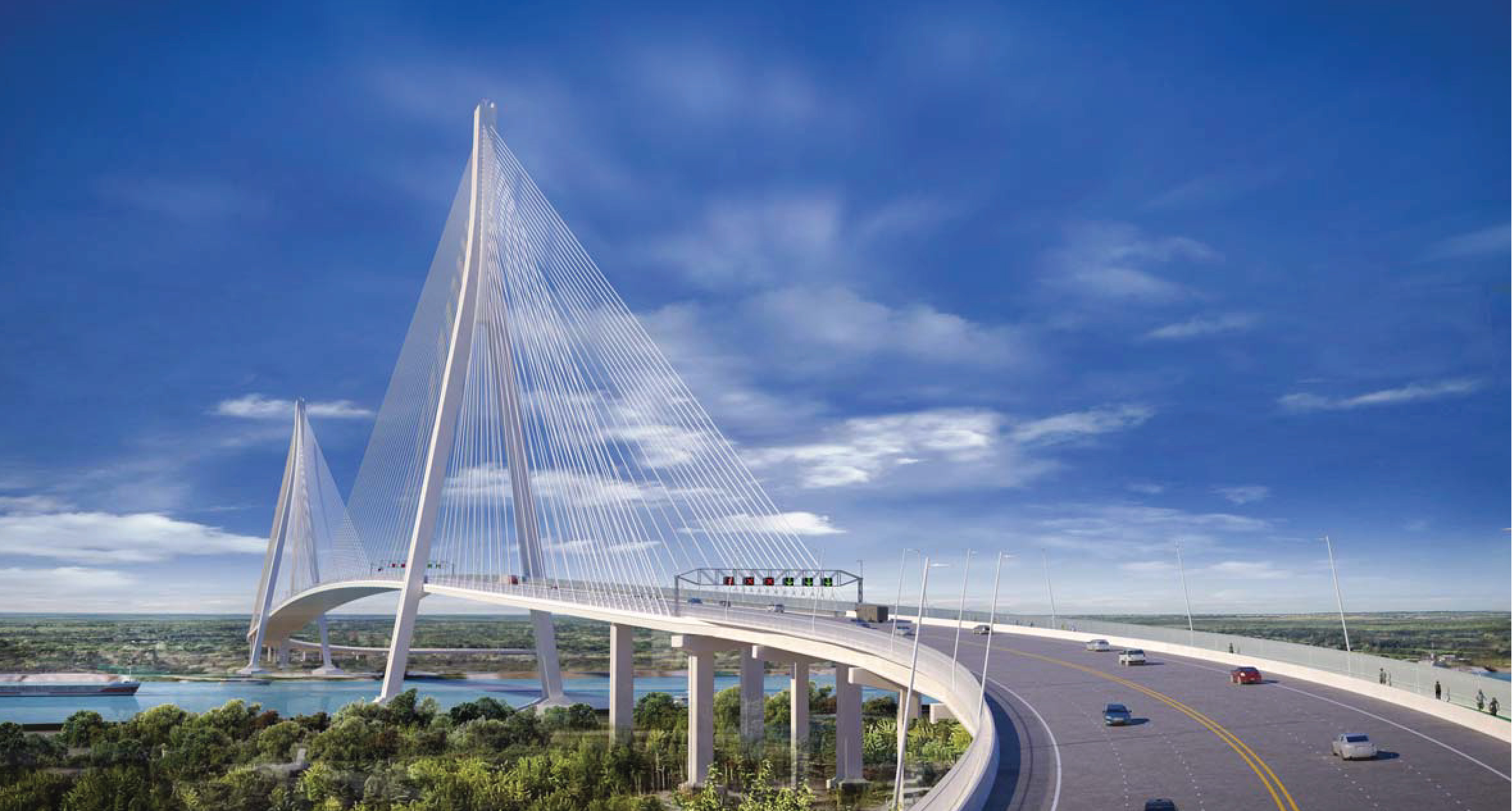 Cable Stayed Bridge Conceptual Illustration